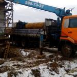 Монтаж установки ГНБ в котловане